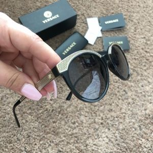 Versace Gold Sunglasses